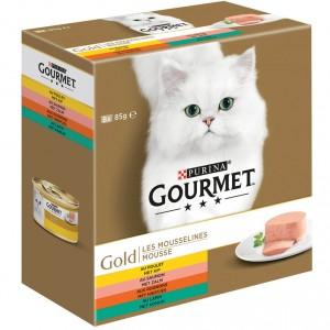 gourmet-gold-8-pack-mousse-kipzalmniertjeskonijn-kattenvoer