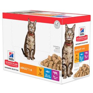 hill-s-adult-favourite-selection-nat-kattenvoer-85-gr-multipack
