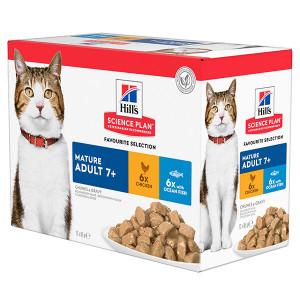 hill-s-maturesenior-pouch-favourite-selection-kattenvoer