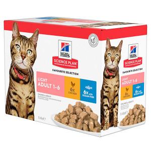 hills-adult-light-pouch-classic-selection-kattenvoer