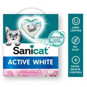sanicat-active-white-lotus-flower-kattengrit