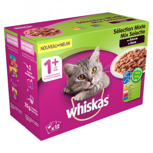 whiskas-1-mix-in-saus-pouches-multipack-12-x-100g